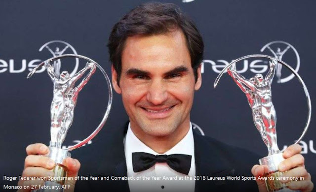 Roger Federer wins sports man of the year