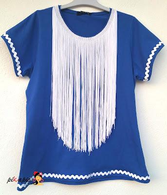 Camiseta flamenca flecos Pikapic