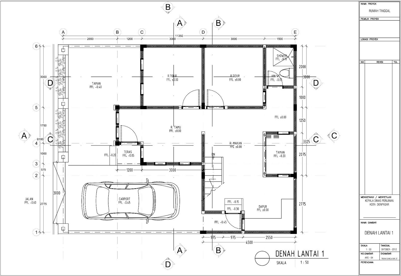 gambar denah rumah tipe 120 2