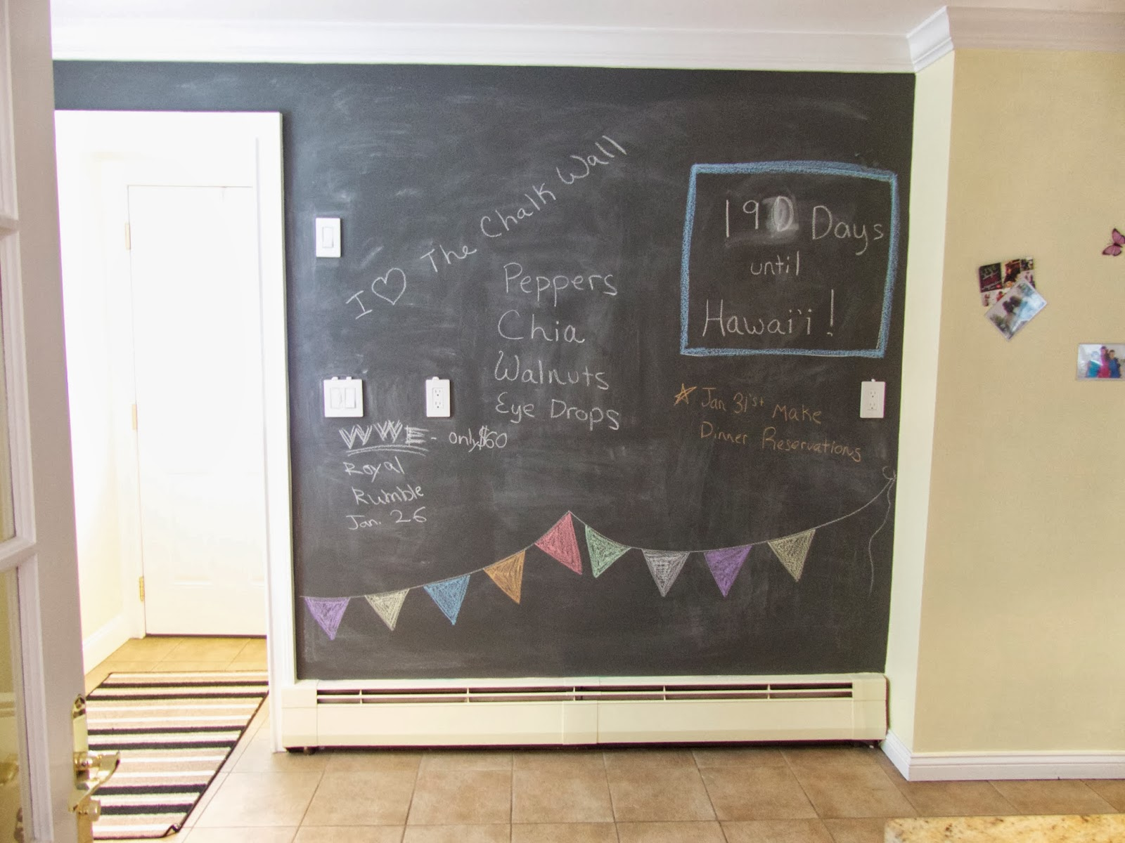 My New Chalkboard Wall And Magnet Board