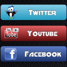 Icons, Social Bookmarks Icons, Tabbed Social Media Bookmark Icons