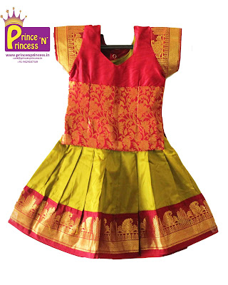 Kids Pattu Pavadai Online for Naming and Cradle Ceremony