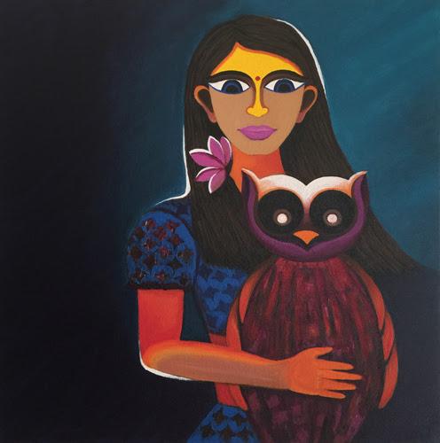 laxmi painting by Deeksha Roy at Pradarshak