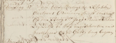 Elmina Journal Entry for 15  April 1749