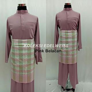 Baju Melayu Cekak Musang  Pink Belacan