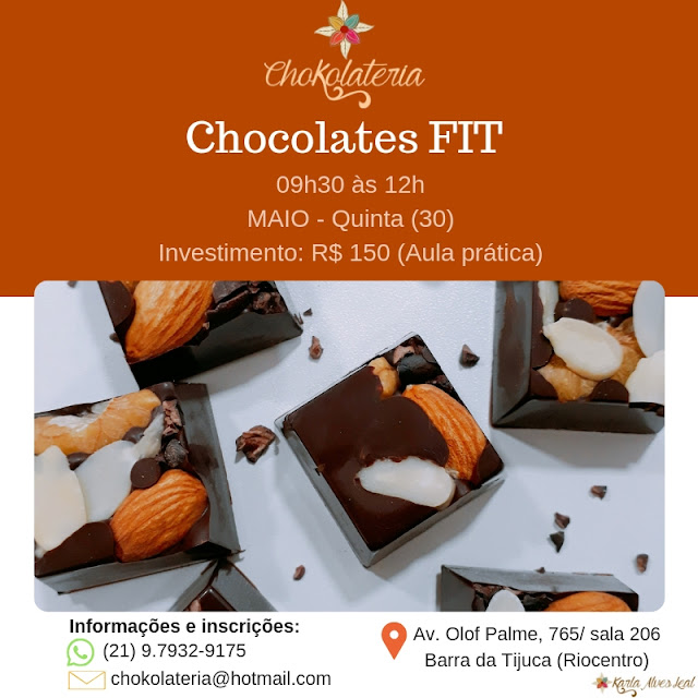 Curso de Chocolates FIT - Chokolateria Maio 2019