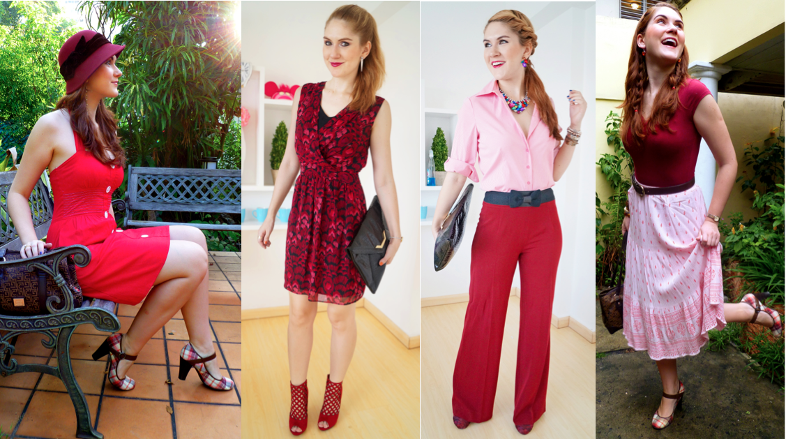 Combine different shades of red to create a monochromatic look