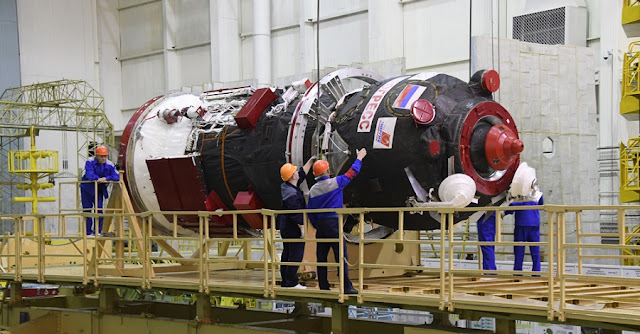 Progress MS-10 spacecraft being readied for the launch. Photo Credit: RKK Energia.