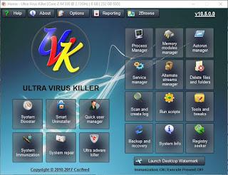 حذف الفيروسات والحماية من اوتورن UVK Ultra Virus Killer 10.5