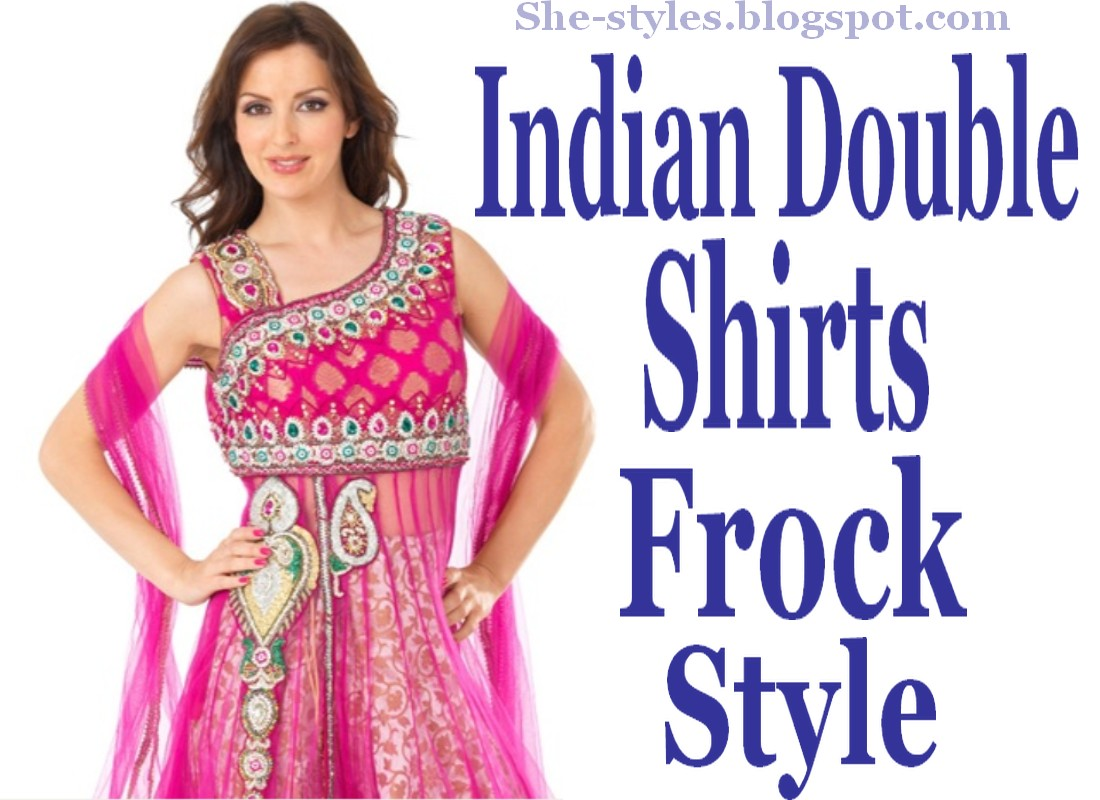 Shirt Dresses Designs 20122013  Indian Double Shirts Frock Styles