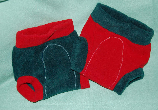 Image: Christmasy Fleece Diaper Covers, by Ashley Barrett on Flickr