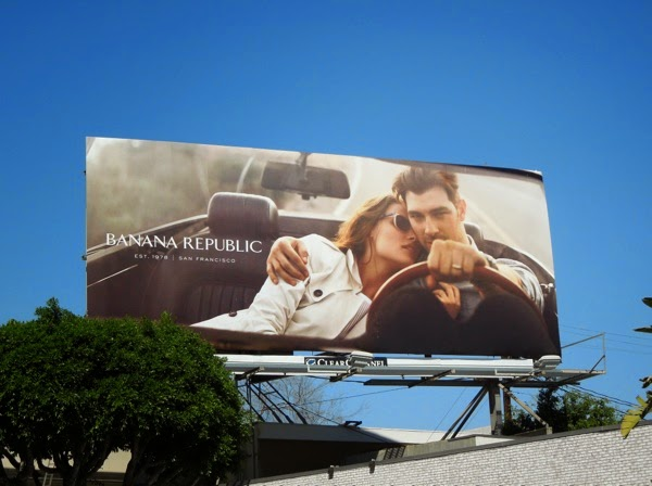 Banana Republic True Outfitters Spring 2014 car billboard