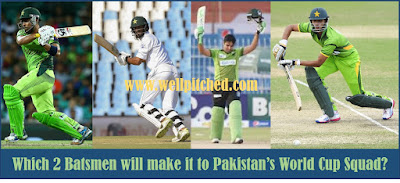 New Faces in Pakistan s ODI Squad Vying for a place in the World Cup Squad