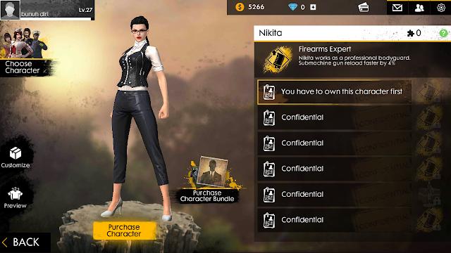 Nikita, karakter baru di Game Free Fire - Battlegrounds