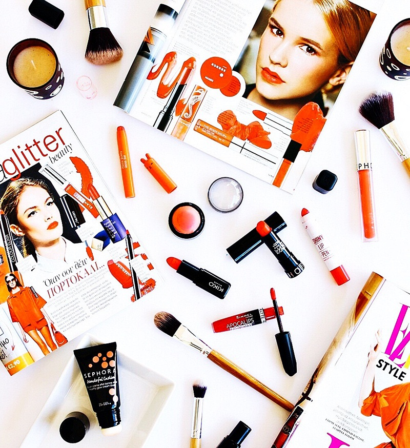 best orange and coral drugstore makeup products for spring and summer