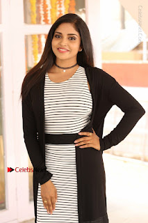 Telugu Actress Karunya Chowdary Stills in Black Dress at Soda Goli Soda Movie Opening  0002.JPG