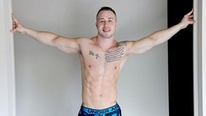 Hot Muscle Stud Dom Knight Works Out And Jerks OFF