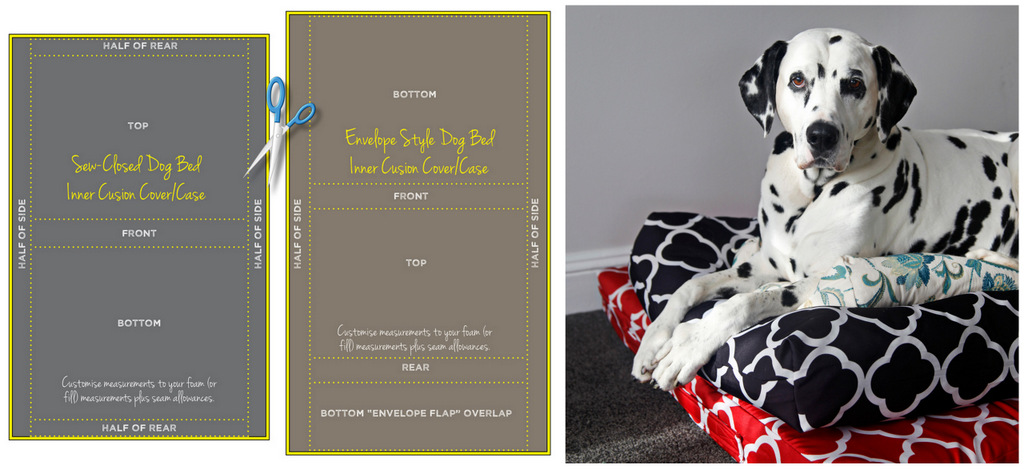 Dalmatian Diy Making Your Own Simple Dog Bed Insert Cushions