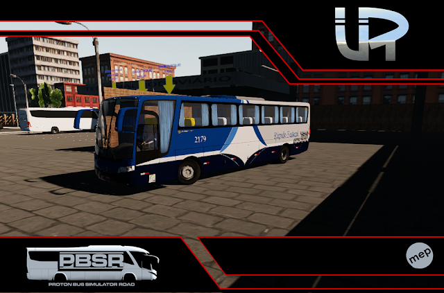 Skin Proton Bus Simulator Road - Vissta Buss LO O-500 RS Viação Rápido Federal