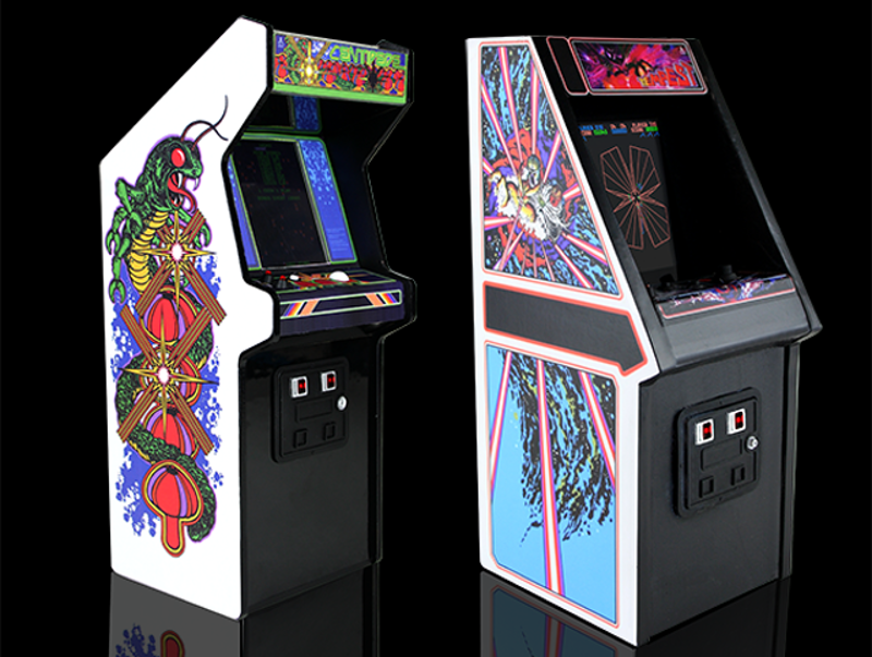 New Wave Toys Brings The Arcade Home With RepliCade Fully Functional Centipede And Tempest Mini Arcade Cabinets