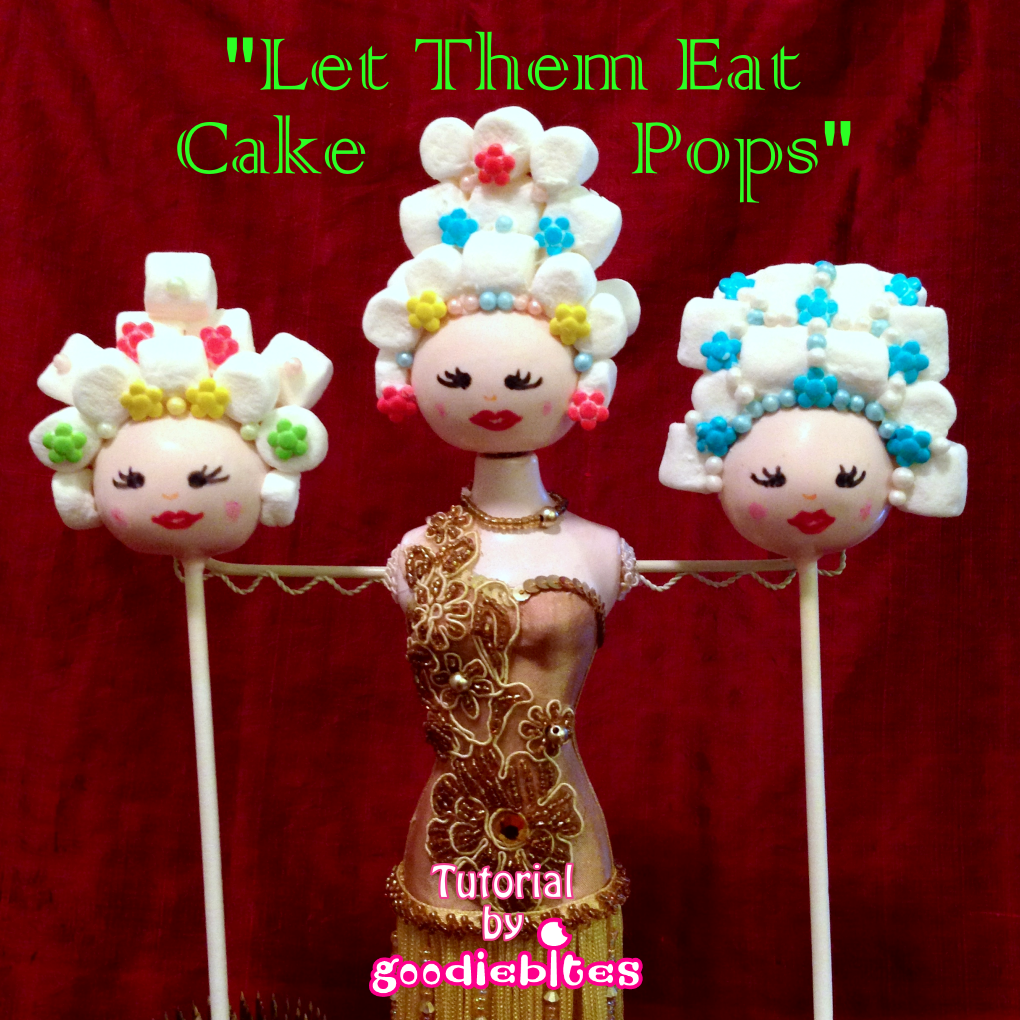 Learn how to make these chick Marie Antoinette Cake Pops. With step-by-step instructions, you won't lose your head!