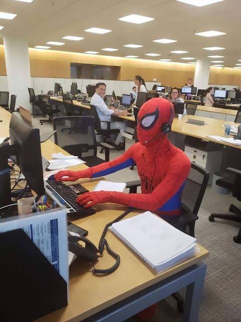 Bancário Homem Aranha