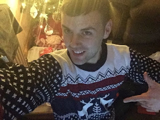 Christmas jumper for my friend which I borrowed.