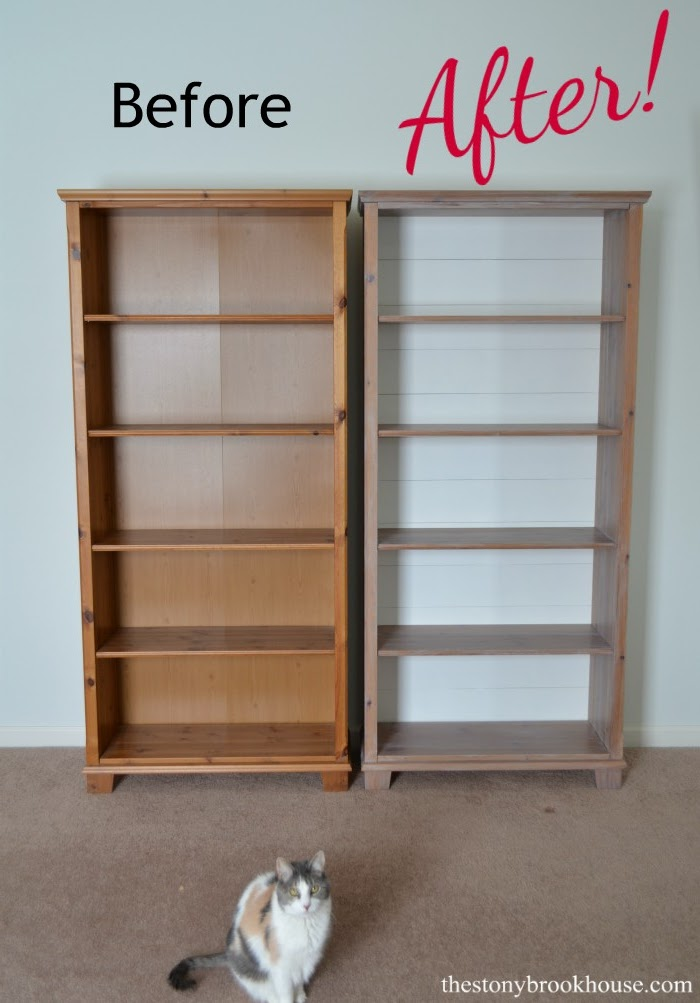 How To Update Old Bookcases Farmhouse Style