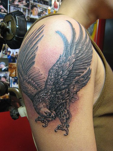 eagle tattoo arm