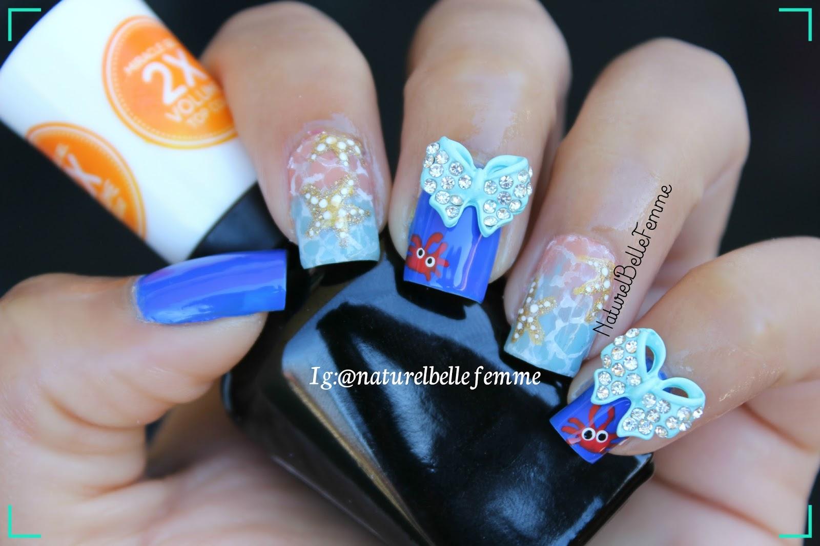 naturelbellefemme: Starfish nail art