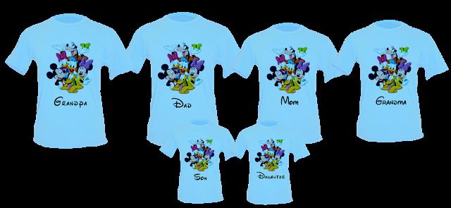 camisetas personalizadas para viagem disney