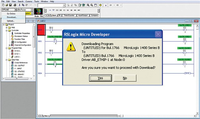 Fig. 14 Downloading the Ladder program to the PLC  sc 1 st  Arvind - blogger : micrologix 1400 wiring diagram - yogabreezes.com