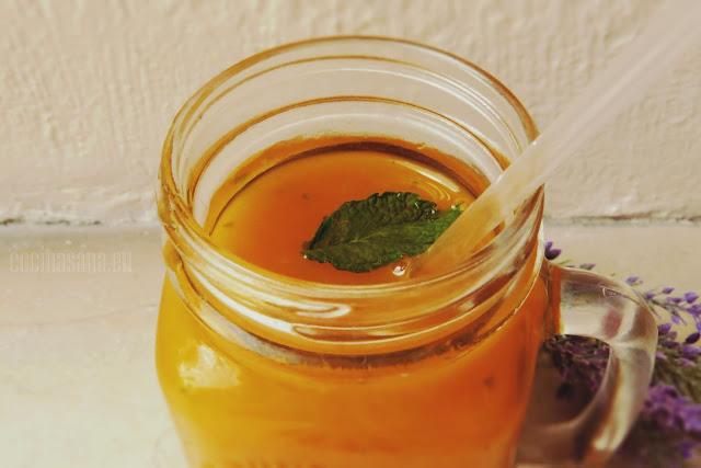 Smoothie de Mango y Hierbabuena