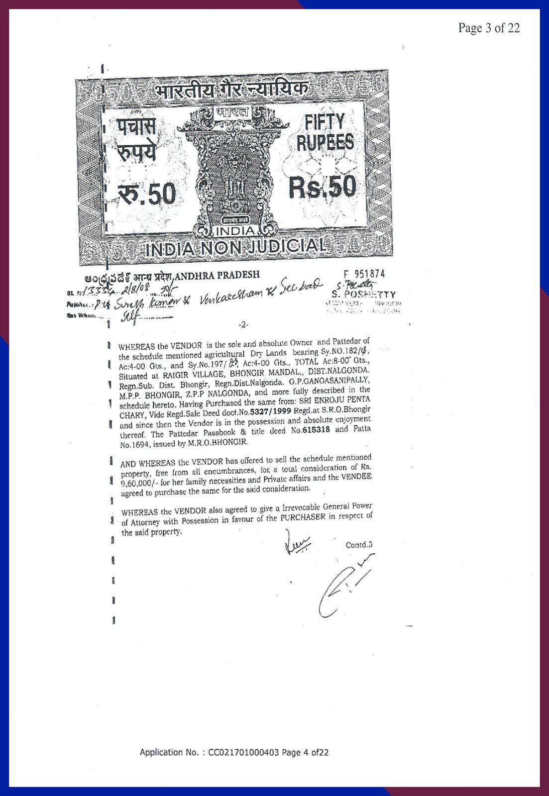 Agreement of Sale cum GPA date 2-8-2008-3