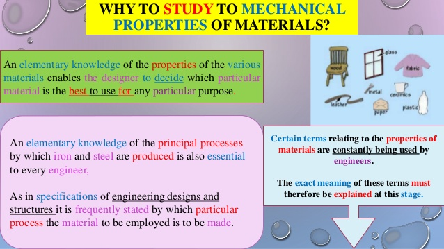 three essential properties to every material Properties of common solid materials  all properties are under  further information on a specific material can be obtained by clicking the name of that.