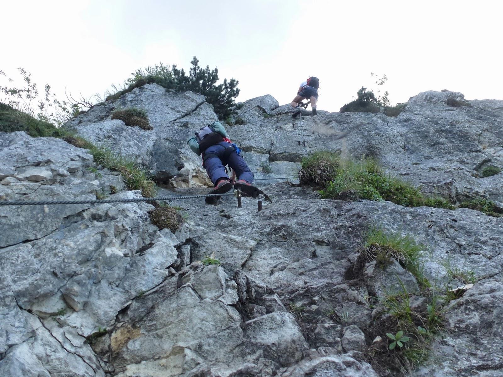 Klettersteig Mahdlgupf : Klettersteig mahdlgupf attersee