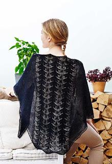 hulmønster sjal strikkeopskrift