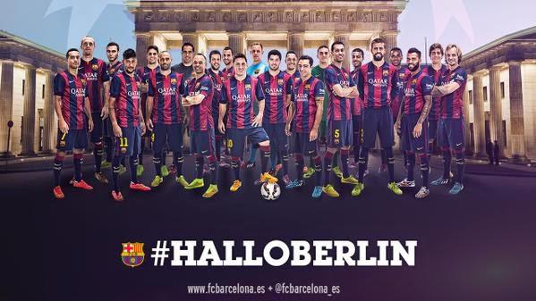 El Barça celebra su pase a Berlín con #HalloBerlin