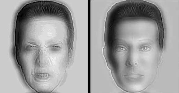 Yer değiştiren korkunç ve normal yüzler yanılması