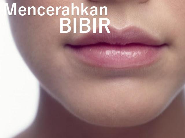 Mencerahkan bibir