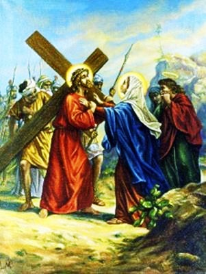 Viacrucis 4 - Jesus Se Encuentra Con Su Santisima Madre