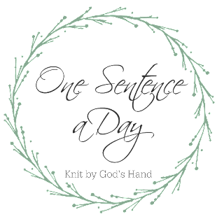 Knit By God's Hand: One Sentence a Day - September 2019