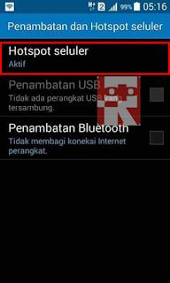 hotspot seluler konfigurasi 2