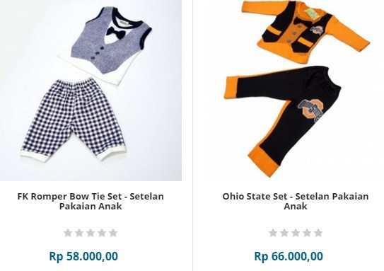 Perlengkapan bayi berupa baju bayi set lengkap
