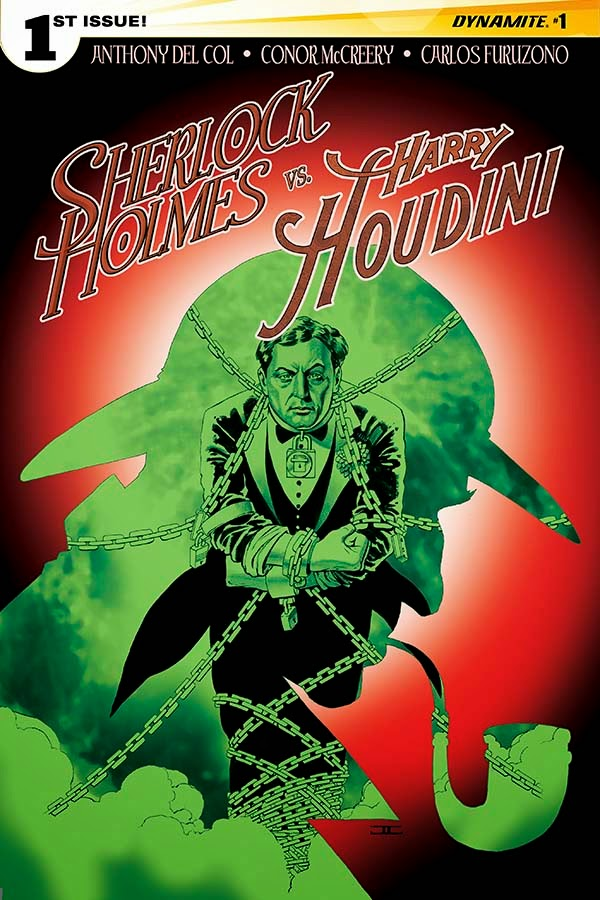 Sherlock Holmes vs. Harry Houdin cover 1 - Cassaday - Dynamite Comics