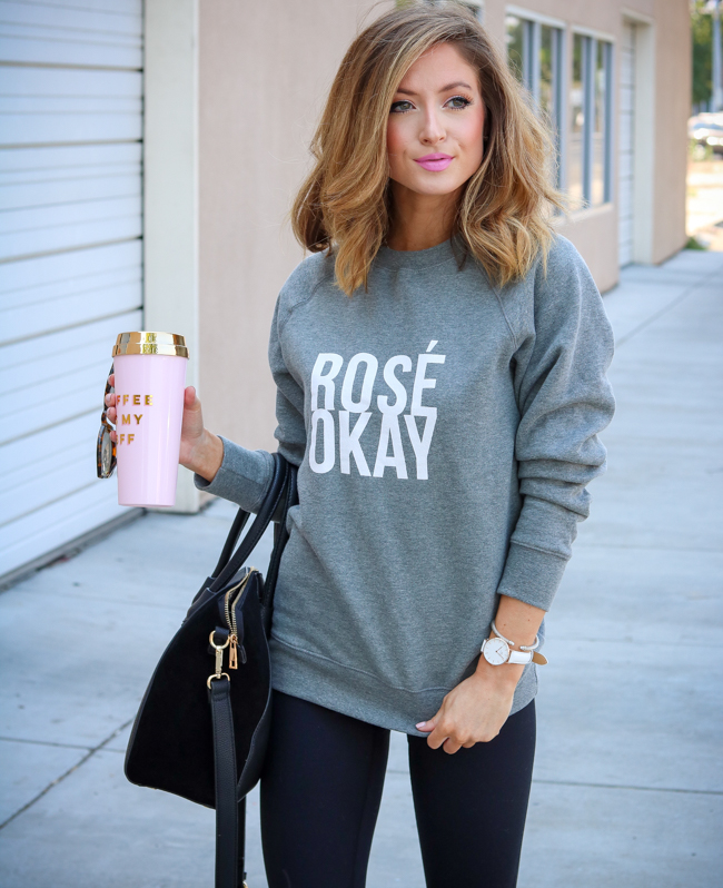rose okay sweatshirt high waist legging