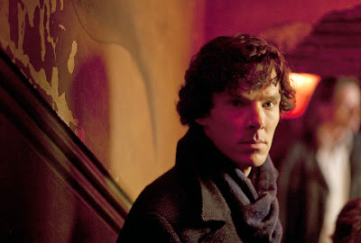 Benedict Cumberbatch as Sherlock Holmes in BBC Sherlock Season 1 Episode 2 The Blind Banker