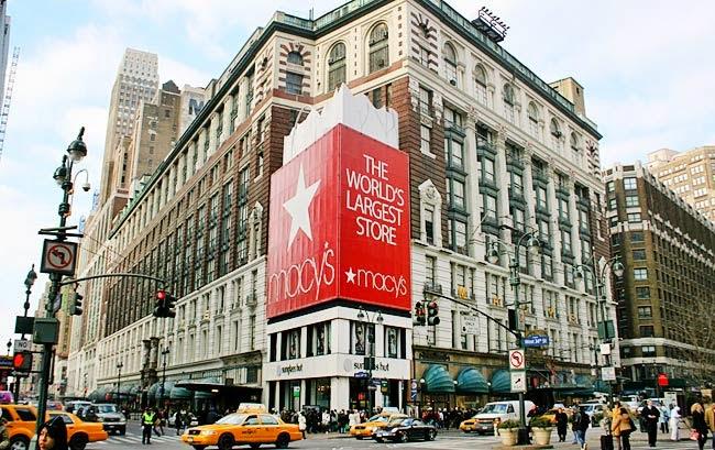 Compras na 34th street em Nova York