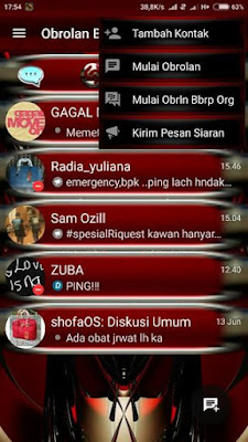 Download BBM MOD MILLENIUM RED