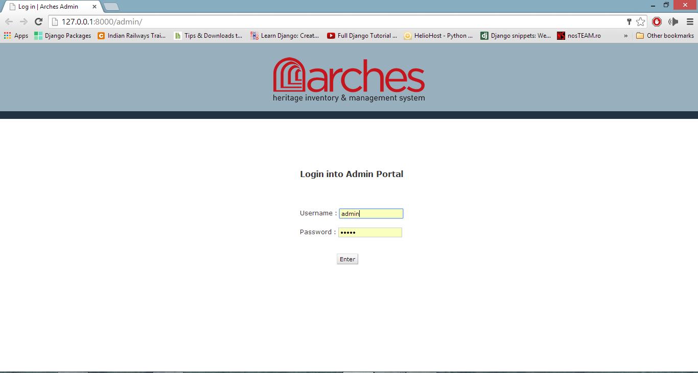 Django Admin Dashboard Customization in Arches